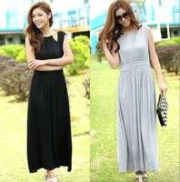 2013 summer female slim halter-neck sleeveless vest beach dress bohemia one-piece dress modal full dress