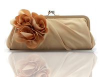 fashion flower evening bag,bride clutch bag, dress bag,free shipping