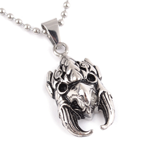 Popular titanium male owl necklace male pendant non-mainstream fashion men necklace pendant accessories(China (Mainland))