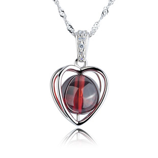 Garnet zirconium diamond pendant necklace lovers gift birthday gift necklace jewelry(China (Mainland))