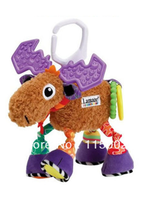 Newest multifunctional Pere David's deer/ antelope brown lamaze bed hang/bell baby toys(China (Mainland))