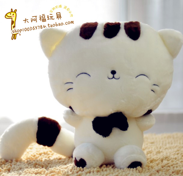 Plush toy rice balls cat doll cat cloth doll wedding doll(China (Mainland))