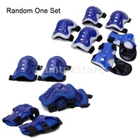 Free Shipping Children Cycling Roller Skating Knee Elbow Wrist Protective Pads - Blue