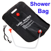 2014 New Arrival 20L Solar Heated Camp Shower Bag Outdoor Camping Shower Water Bag