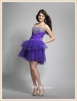 Quality wedding dress ball design short formal dress professional wedding dress customize short evening dress