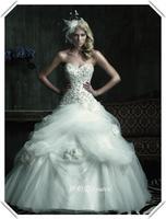 Top wedding dress quality crease organza flower fluffy wedding dress formal dress wedding dress