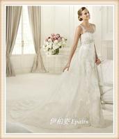 2013 classic spaghetti strap wedding dress luxury lace princess of the royal wedding dress formal dress new wedding