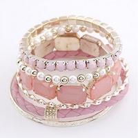hotsale in 2013 handmade women multi layer bohemian bracelet bangles Diameter 7.2cm