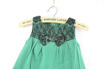 5pcs/lot girls sleeveless lace dress fashion bow tank dress children princess dress free shipping