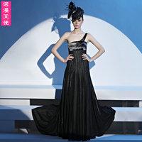 Fashion 38126 2290 one shoulder tassel beads married formal dress the bride toast