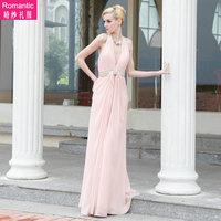 Fashion deep 88032 V-neck bridal bridesmaid long design formal dress performance formal dress prom wedding clothes skirt