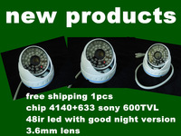 new!!!48pcs ir LED sony 600TVL COLOR Super HAD CCTV Outdoor VANDAL DOME Camera white
