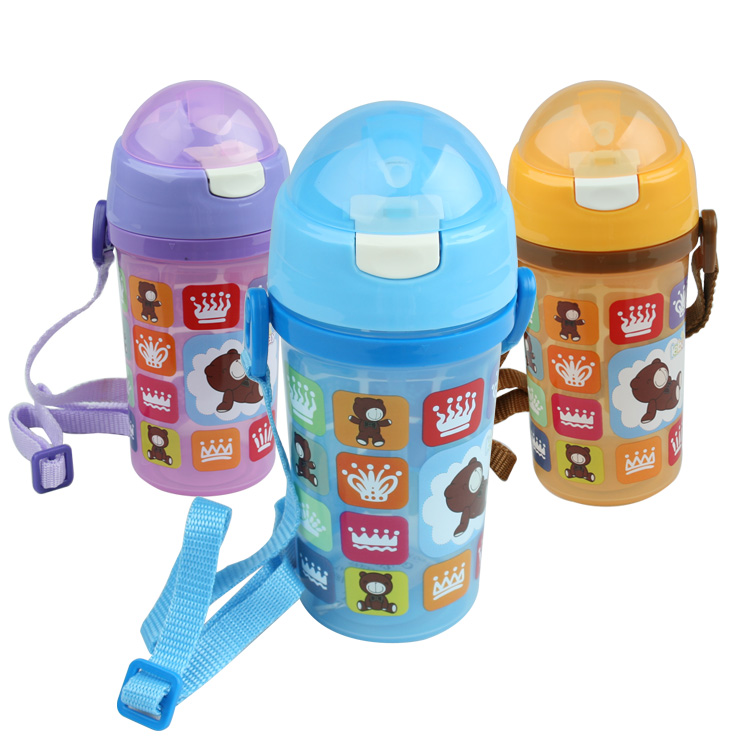 Child water bottle summer straw cup baby soft straw water bottle cup(China (Mainland))