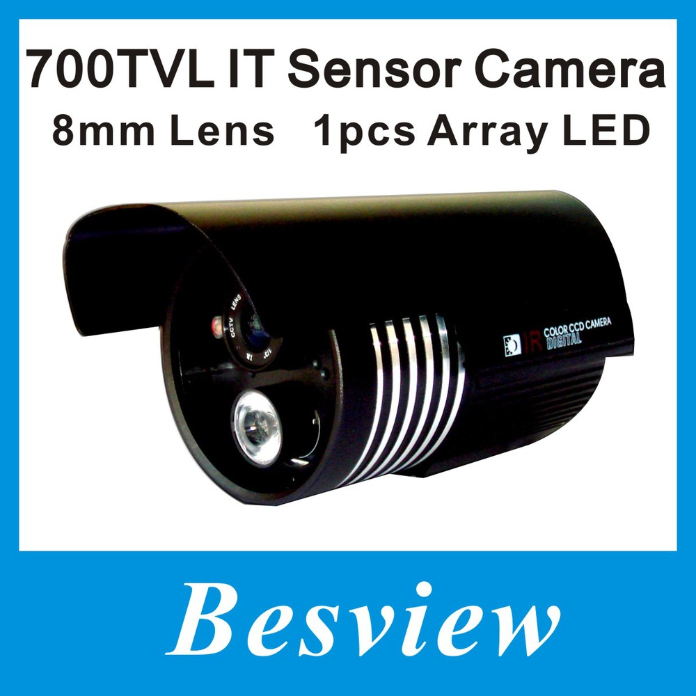 "Free shipping!700TVL 1/3"" CMOS IR Bullet security CCTV camere, 1pcs Array IR Leds, 8mm Lens(China (Mainland))"