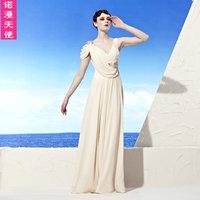 95639 elegant flower diamond quality dress 2012 bride dress design long trailing evening dress