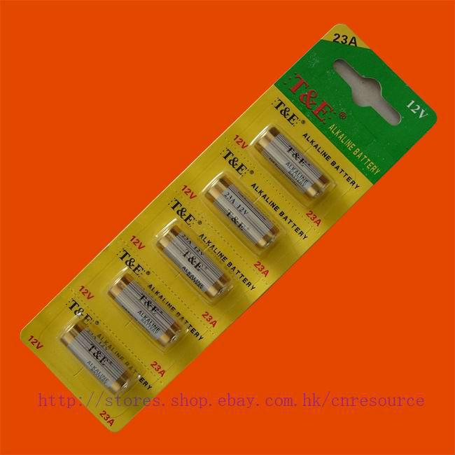5 x 23A 12v Batteries 23AE MS21 A23 V23GA VR22 MN21 N(China (Mainland))