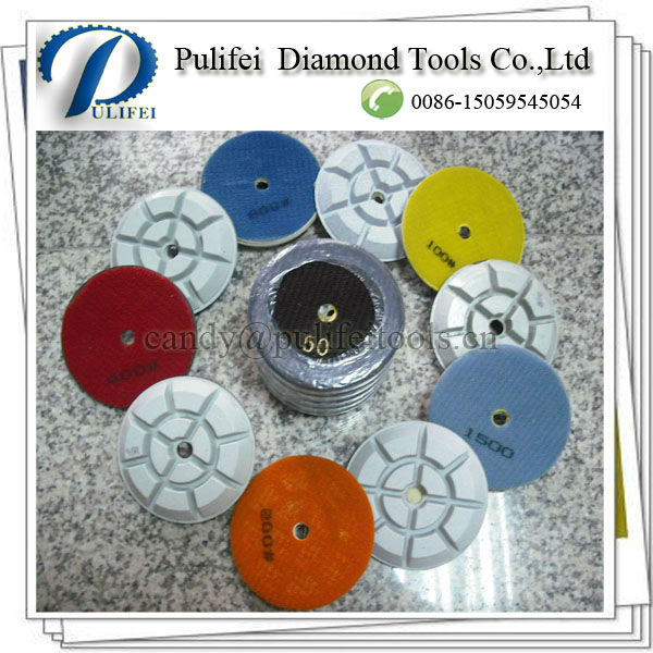"4""/100mm Abrasive Resin Floor Polishing Pads For Floor Grinding -Wet Use(China (Mainland))"