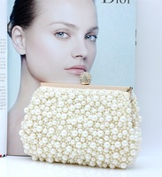 New arrival 2013 quality pearl bag evening bag candy color bag marry bridesmaids package women's bags white