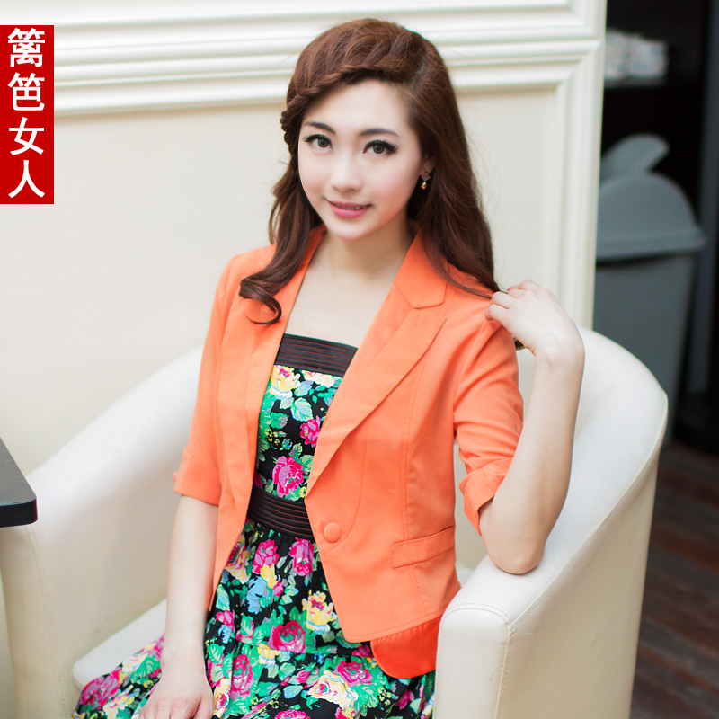 Fence summer new arrival 2013 women's ol elegant slim spring and autumn short blazer jacket(China (Mainland))