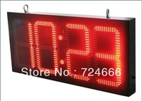 "10"" inch 88:8C/F LED Digital Time and temperature Display outdoor led sign time temperature sign, led time temperature display"