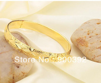 18K  Gold Plated Dull Polish Bangles,Bridal Jewelry KH732