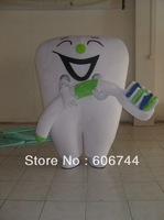 Adult Customized Tooth Mascot Costumes Sponge Body Good Quality Free Shipping