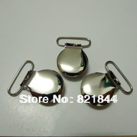 Free Shipping 100pcs 1'' Inch 25mm 2013 Wide Silver Color Metal Suspender Clips Rack Plating Free Shipping
