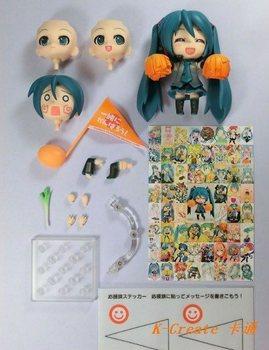 Free shipping 1pcs Japana anime pvc Q version Hatsune Miku action figure toy tall 10cm set.Promitional 1pcs nendoroid series.