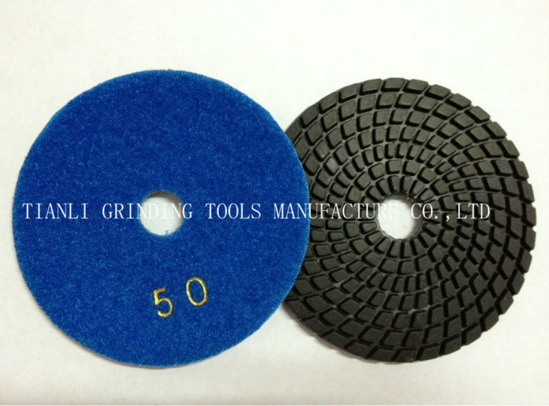 4inch diamond flexible polishing pads wet polihing pads(China (Mainland))