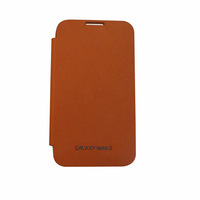 Flip Cover Case for Samsung Galaxy Note 2 Flip Cover Case Orange