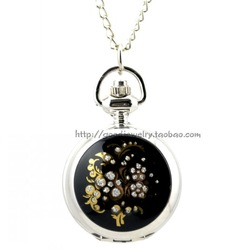 The paniculata retro pocket watch with long clain Pocket watchMs. M sweater chain jewelry(China (Mainland))