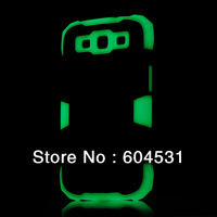 Hot sale 100pcs/lot  Fashionable design Noctilucent protective case for Samsung Galaxy S3 i9300 Free shipping