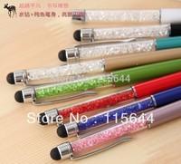 Light Pink Diamond Stylus Ball Pen for iPad 3 2 1 iPhone 5 4S 4 3 iPod Touch 5 4 Free Shipping 50pcs