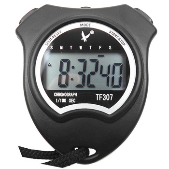 single-row 2 electronic running sports stopwatch big screen