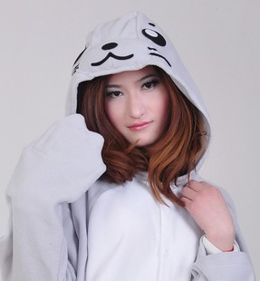 Free Shipping Autumn and Winter Siamese Animal Cartoon Pajamas for Loves Party Costumes one piece sleepwear Seal(China (Mainland))