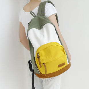 Classic 2013 backpack school bag male girls backpack sports canvas bag student bag color block(China (Mainland))