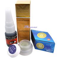 Free Shipping Pro Smell-less Glue False Eyelash Extension + Grape Seed Oil Remover Makeup Set