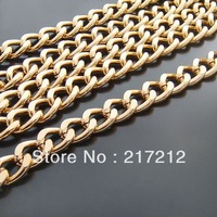 3M/lot 12MM/W Gold Plated Aluminum Link Chains Jewelry Findings/Accessories