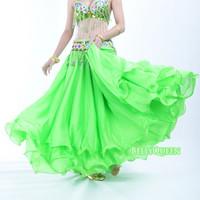 Belly dance costume Belly dance skirt clothes performance wear set quality set dress chiffon roll-up hem skirt