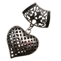 wholesale pendants , Silver hollow heart,Nickel-free,Environmentally Friendly Materials,Free Shipping Wholesale