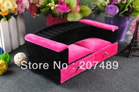 princess furniture sofa velvet jewellery box case organizer storage display for earring ring necklace for gift wholesale