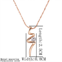 18K gold plated necklace Genuine Austrian crystals italina necklace,Nickle free antiallergic factory prices ilo sph GPN198