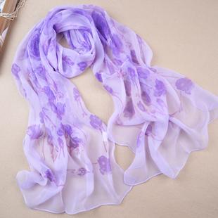 Print chiffon silk scarf silk scarf long design 4