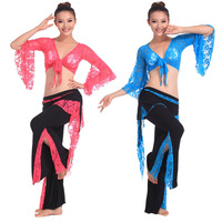 Sexy Womens Belly Dancing Costume Set Lace Top & Pants Costume Set Trousers 11 Colors # L034923