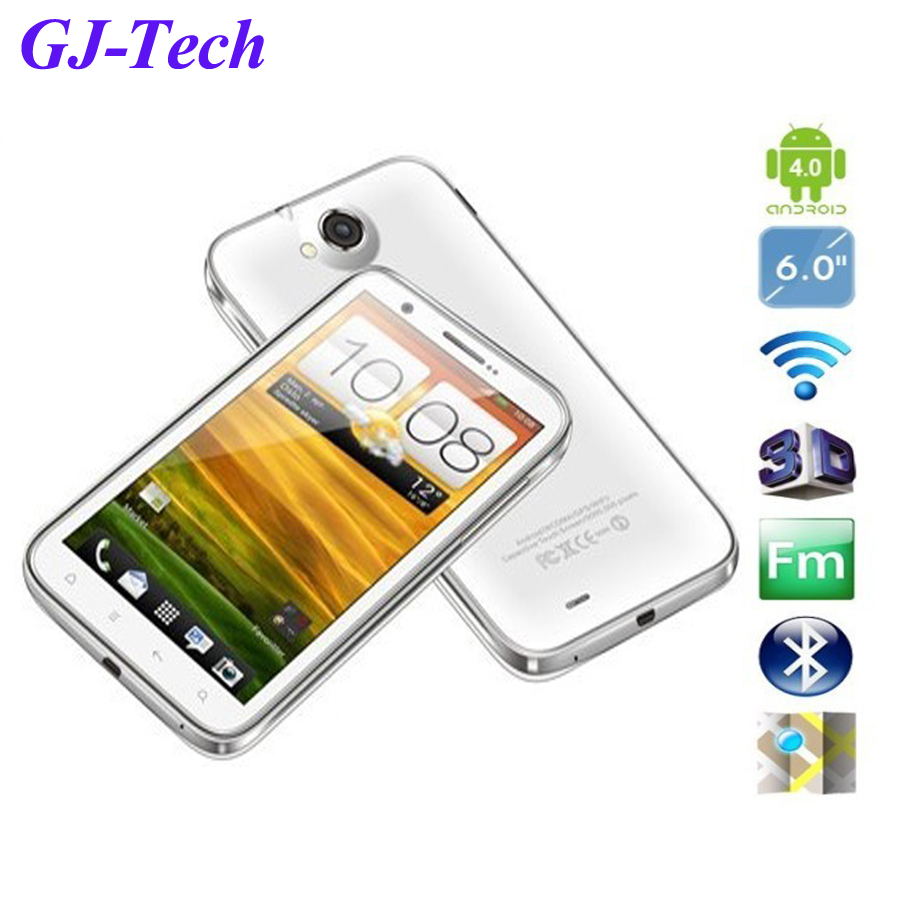 Free shipping MTK 6577 6inch IPS touch screen google android 4.0 3G WCDMA call mobile smart phone N9880 Phone BT GPS dual camera(China (Mainland))