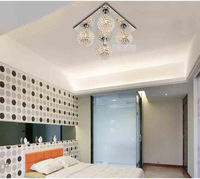 Free Shipping Modern Crystal Ceiling Light with CE&UL Approval for Home and Hotel for Decor on Sale