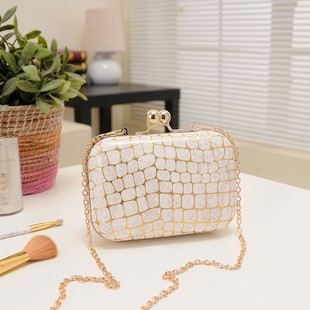 2013 stone pattern day clutch chain bag messenger bag clutch evening bag small bags women's handbag(China (Mainland))