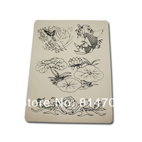 10Pcs/Lot Flower with Fish Tattoo Practice Skins For Tattoo Gun Needle Ink Tips Grips Kits