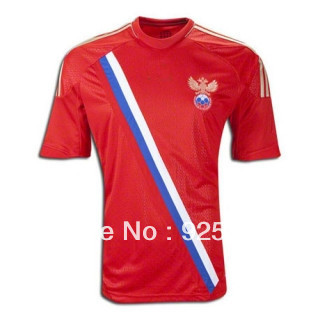 free shipping,top thailand quality,soccer jersey, 2014 world cup Russia 2012-2013 home football jerseys,soccer uniform,(China (Mainland))