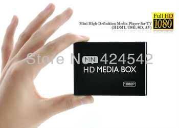 Crazy Promotion!!!  High Quality USB Mini 1080P HD Media Player for TV (HDMI, UUSB, SD, AV)